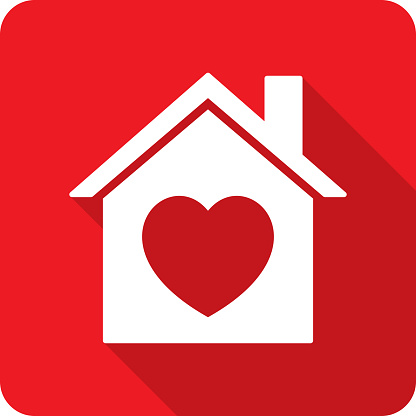 House Heart Icon Silhouette