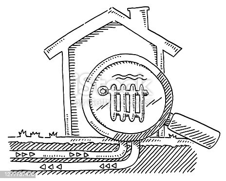 istock House Heating Magnifying Glass Drawing 1277757470