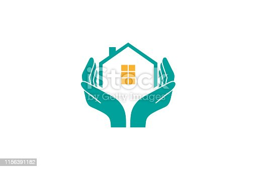 House Holding Care logo Vector Design Illustration