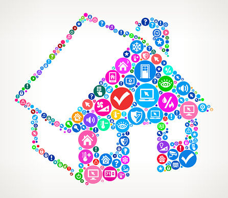 House Home Automation Technology Icon Pattern Stock Illustration - Download Image Now