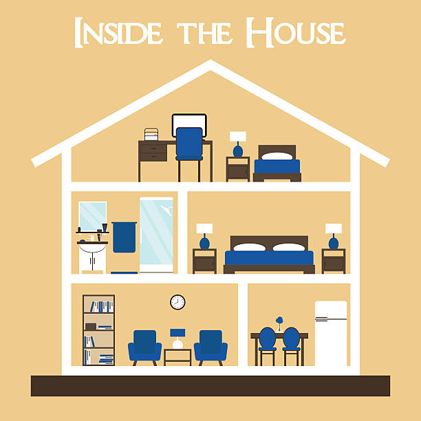 Royalty free dollhouse clip art vector images for Cute houses inside