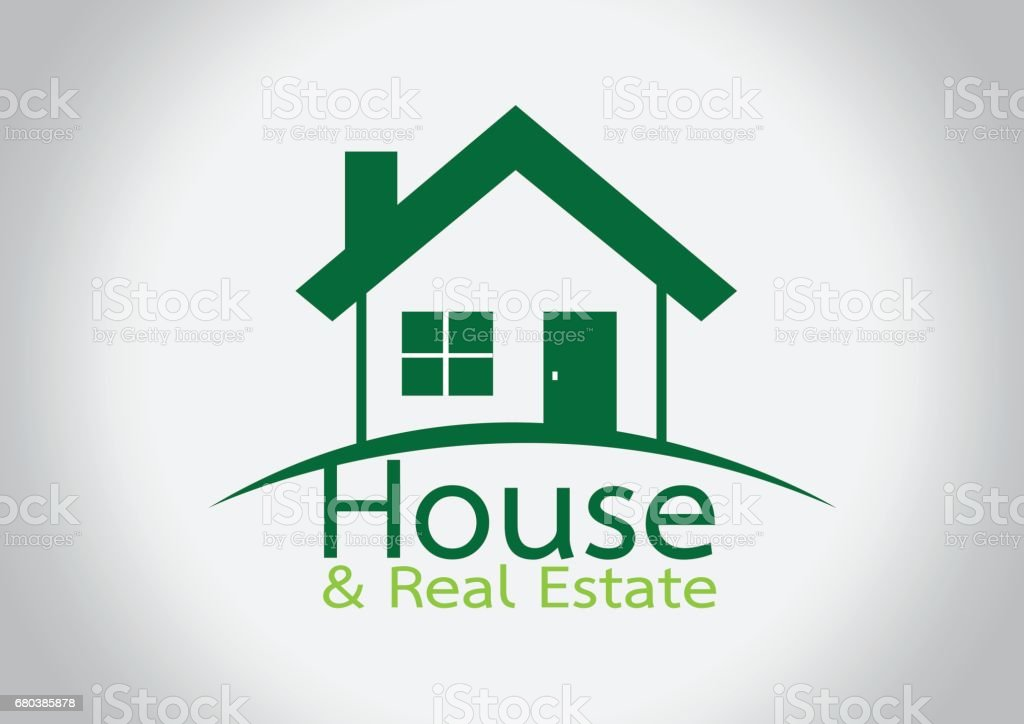 House icon and  Real Estate Building abstract design royalty-free house icon and real estate building abstract design stock vector art & more images of abstract