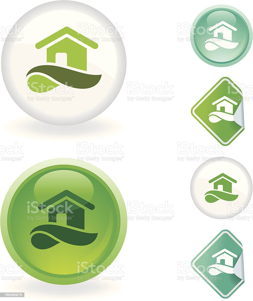 House  icon | Ecological series royalty-free house icon ecological series stock vector art & more images of cut out