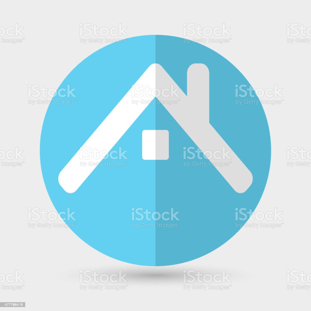 house icon on a white background vector art illustration