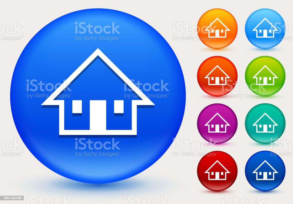 House Icon on Shiny Color Circle Buttons house icon on shiny color circle buttons - immagini vettoriali stock e altre immagini di affari finanza e industria royalty-free