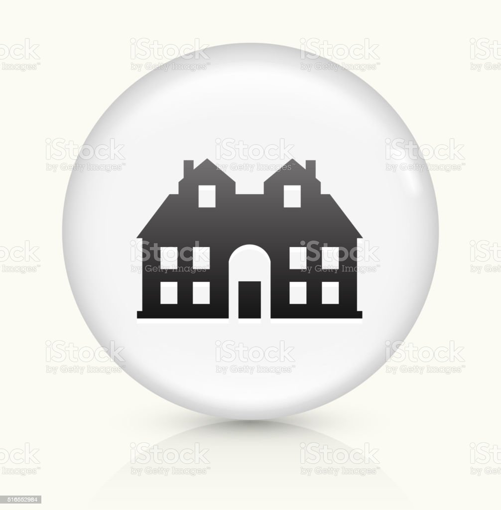 House icon on white round vector button vector art illustration