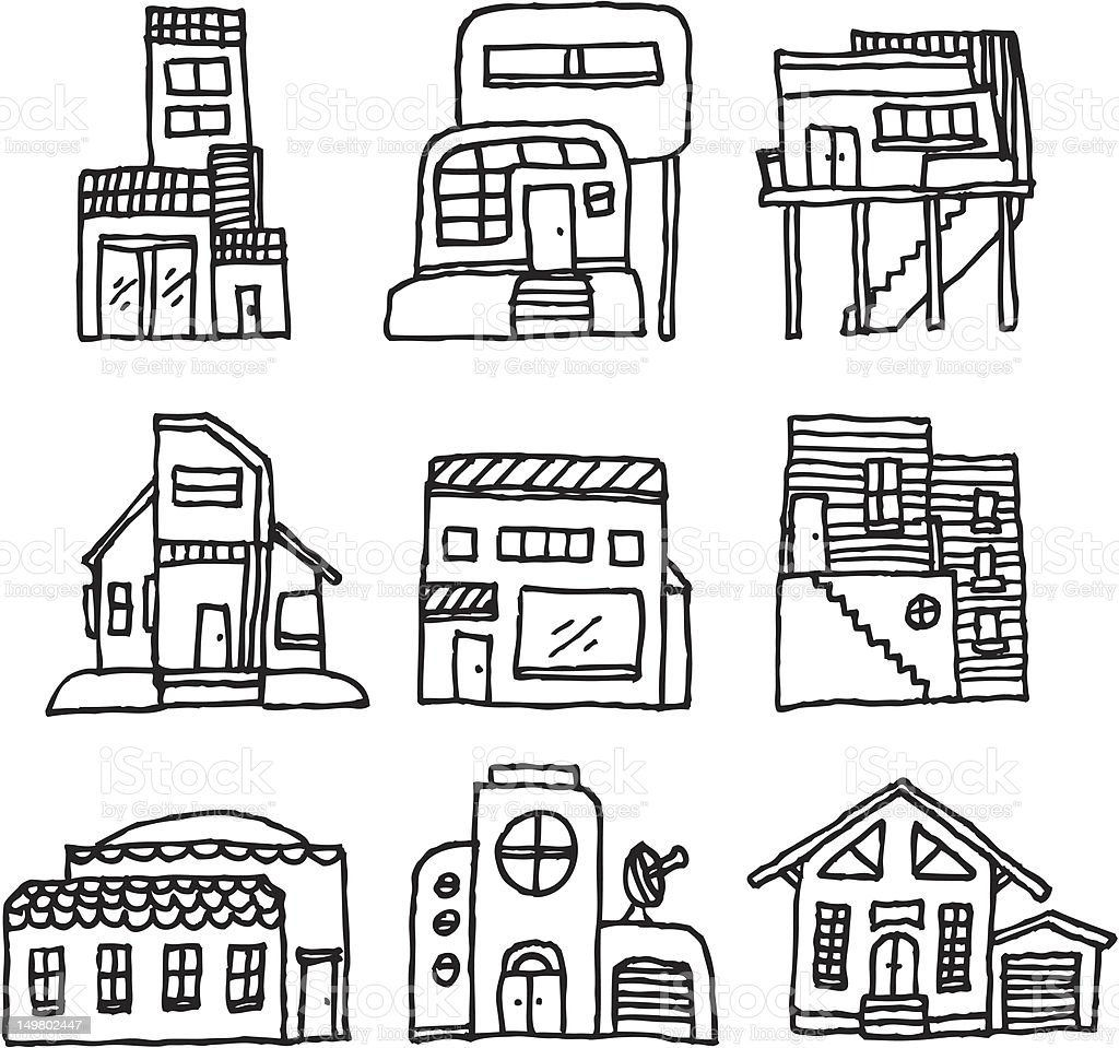 House icon set / Architecture royalty-free stock vector art