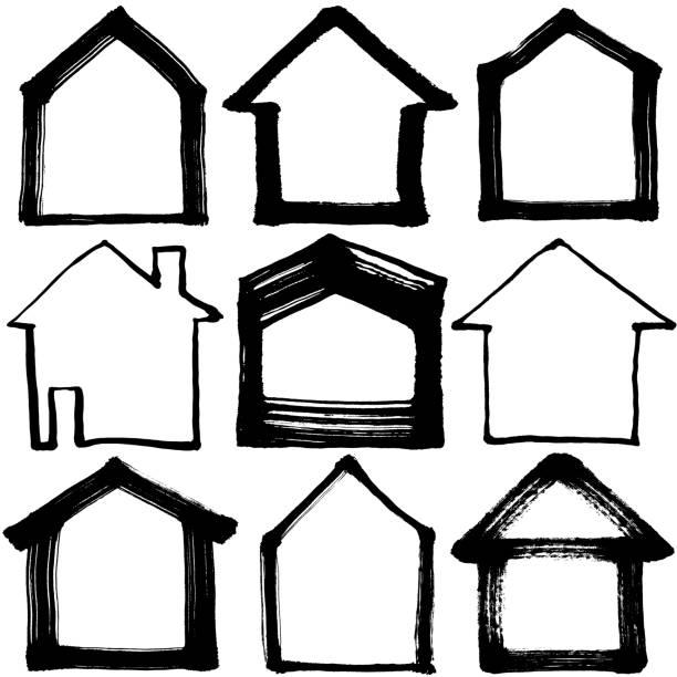 illustrazioni stock, clip art, cartoni animati e icone di tendenza di house icon. - house