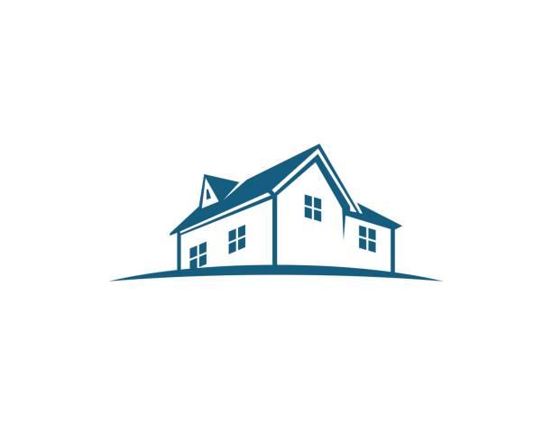 illustrations, cliparts, dessins animés et icônes de icône house - logos immobilier