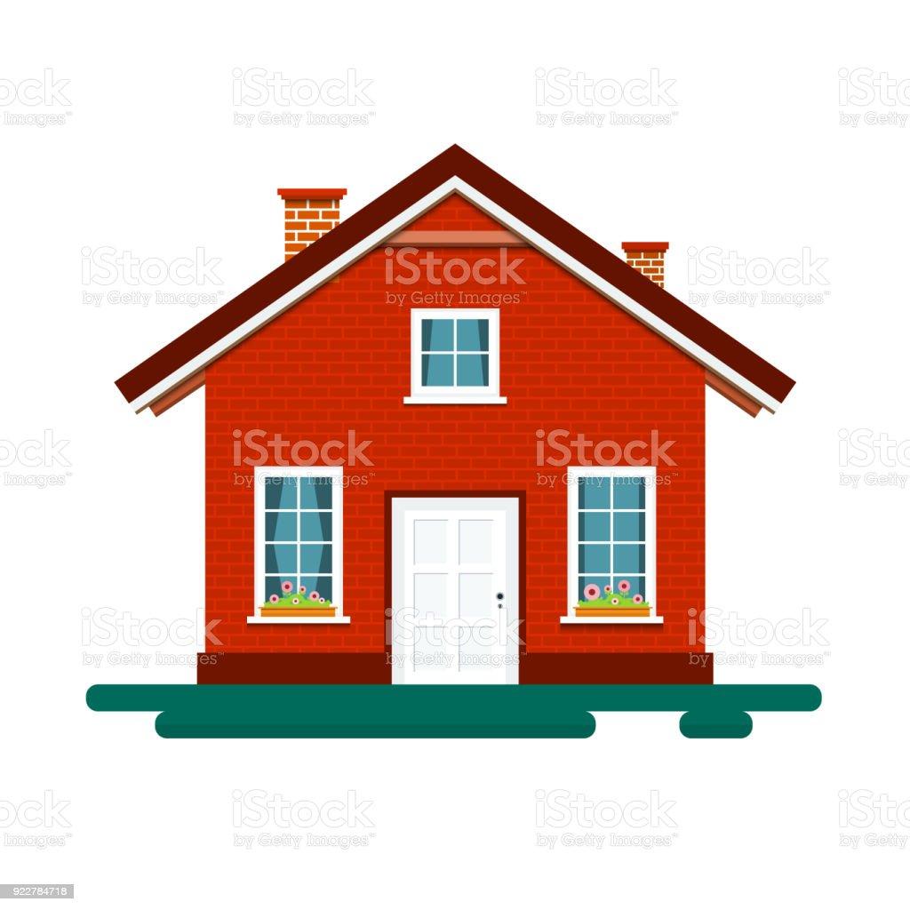 House Icon vector art illustration