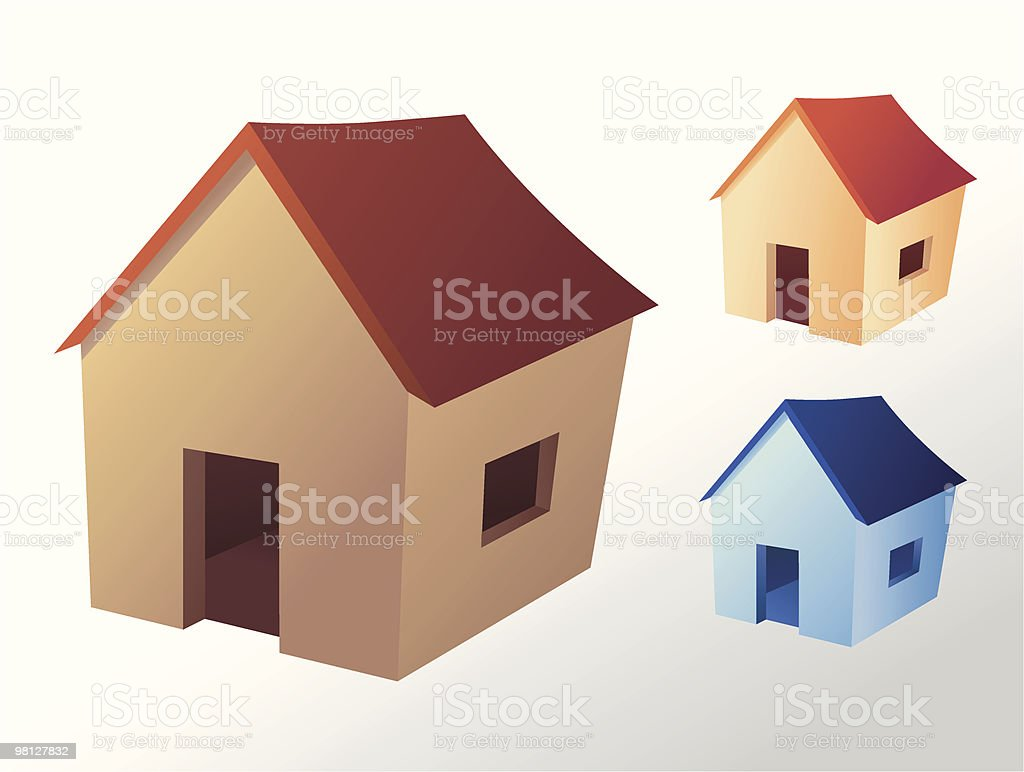 Icona casa icona casa - immagini vettoriali stock e altre immagini di bungalow royalty-free