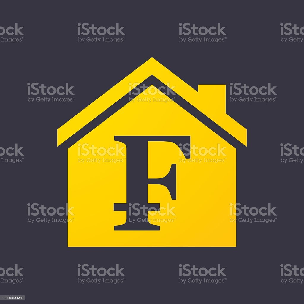 House icon with a currency sign vector art illustration