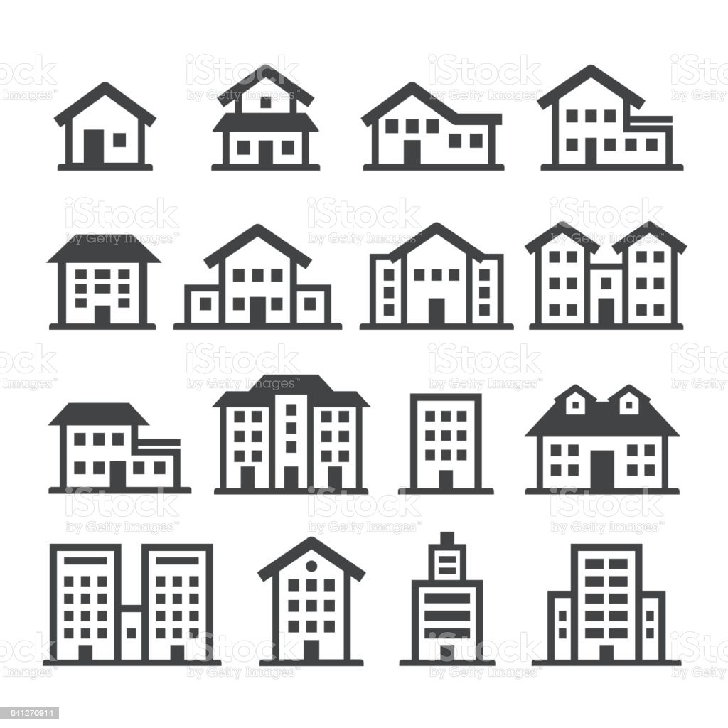 House Icons - Acme Series vector art illustration