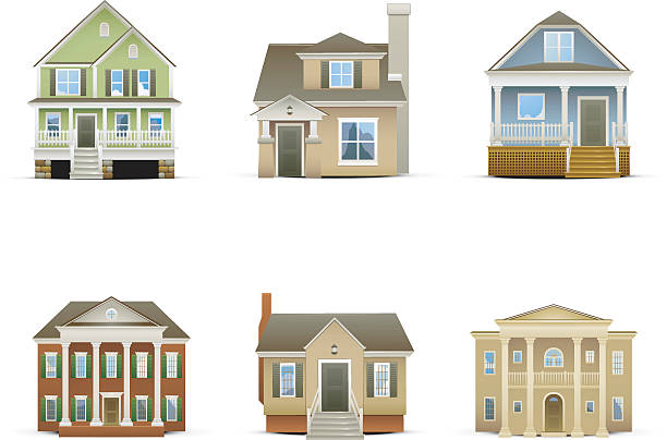 House Icons http://www.cumulocreative.com/istock/File Types.jpg front stoop stock illustrations