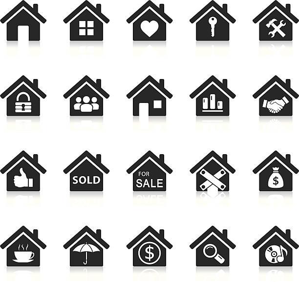 dom ikony - house stock illustrations