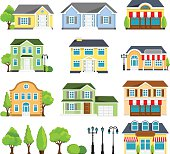 Vector illustration of  the house icons