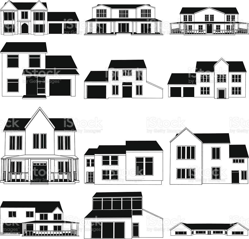 House Illustrations royalty-free stock vector art