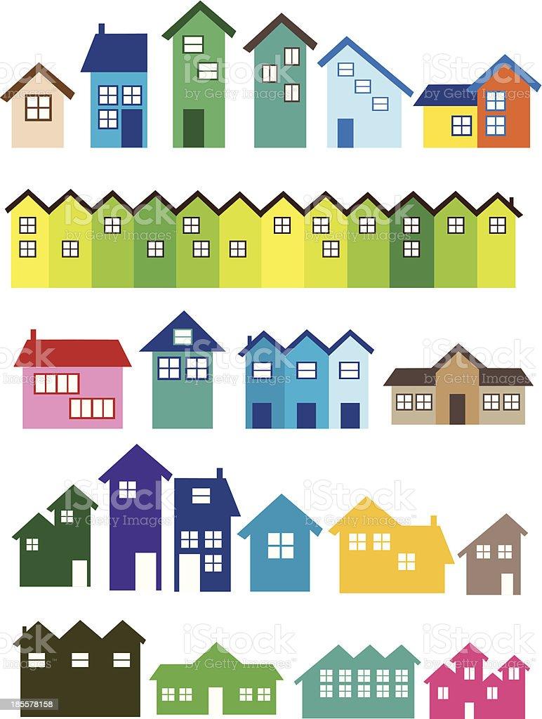 House illustrations vector art illustration