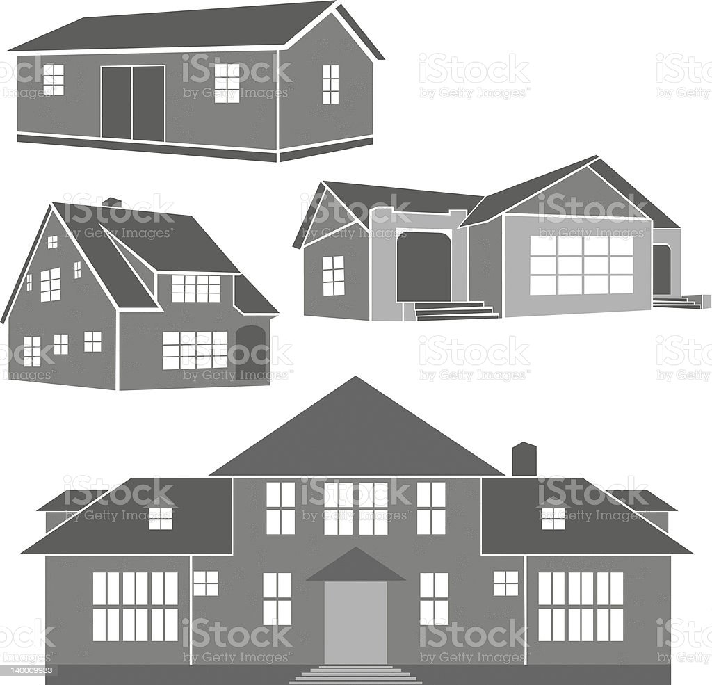 House Illustrations Vector royalty-free stock vector art