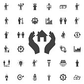House in hand Icon.