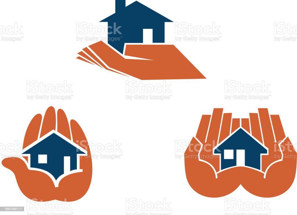 House in hands royalty-free house in hands stock vector art & more images of concepts