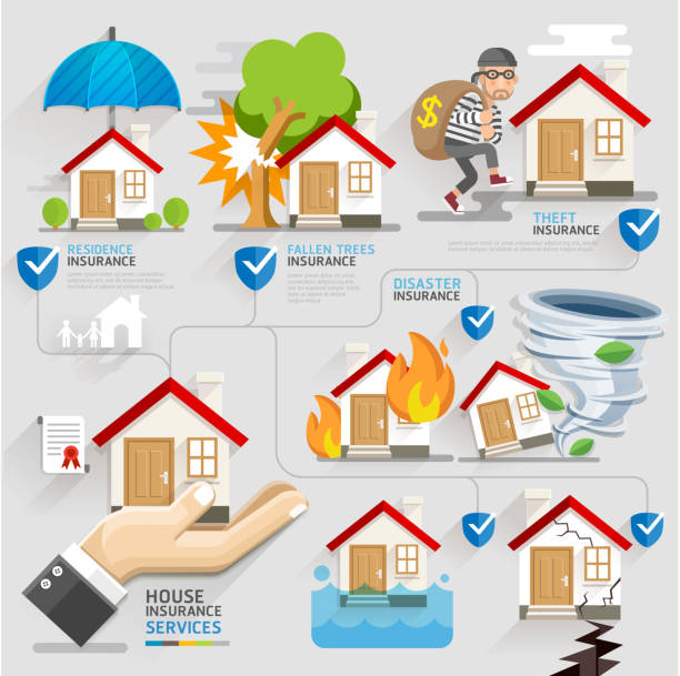 royalty free home insurance clip art vector images illustrations