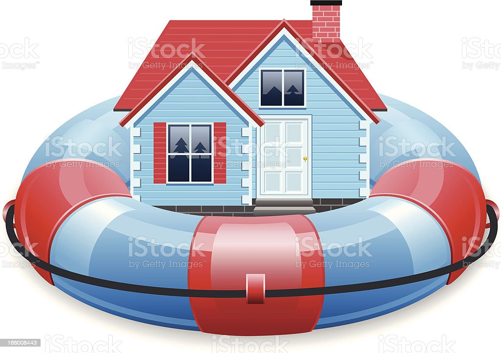 House insurance concept royalty-free stock vector art