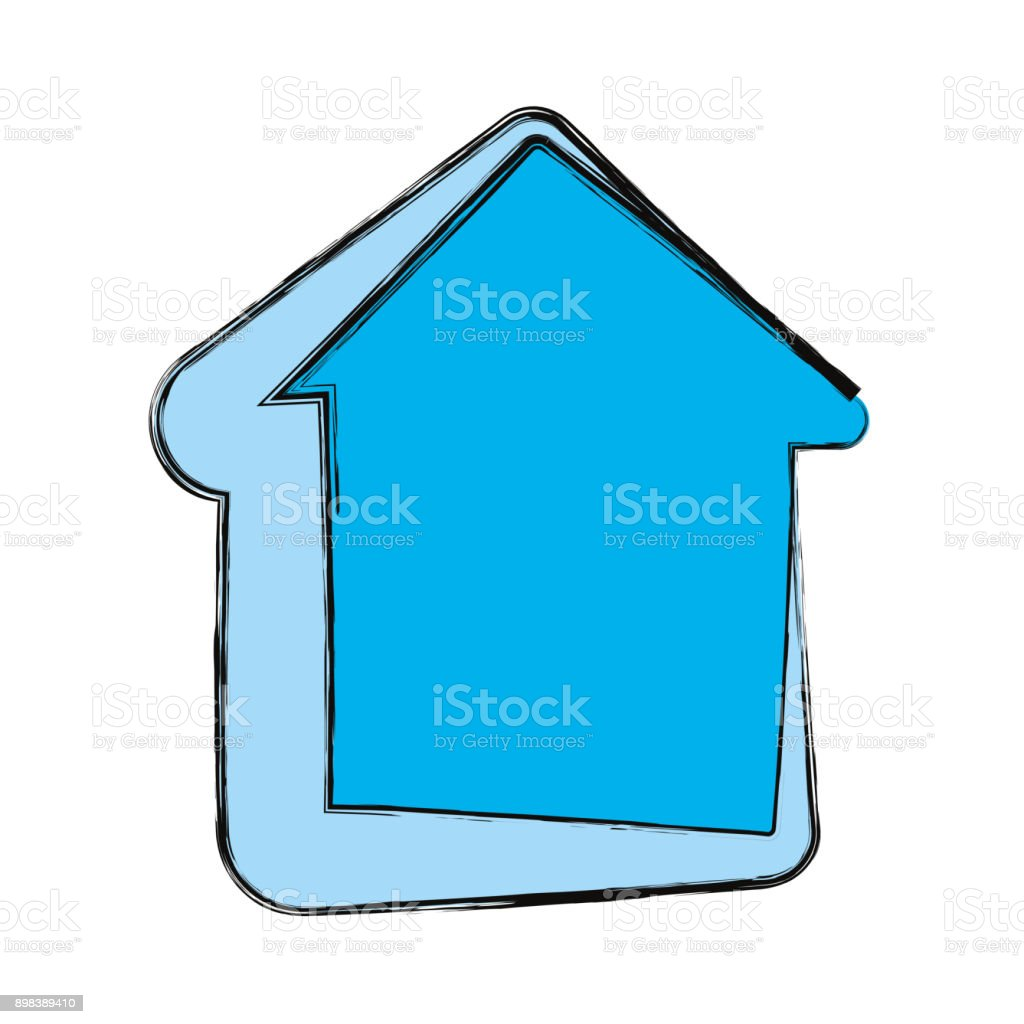 House isolated symbol vector art illustration