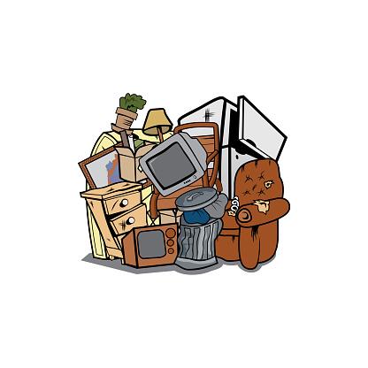 House junk cartoon