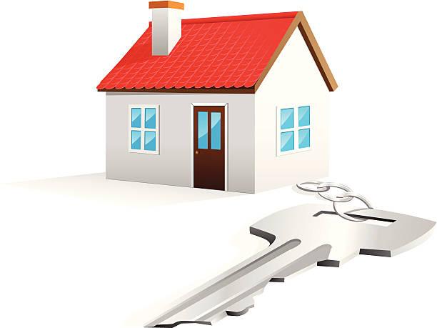 House Key Fob vector art illustration