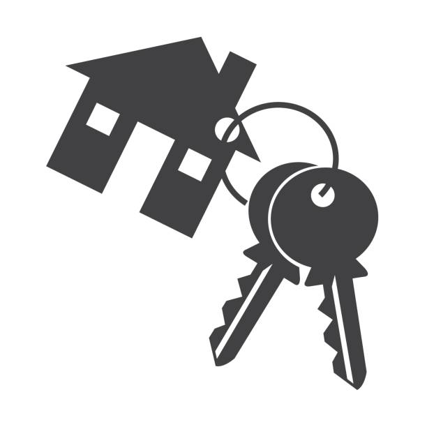 Royalty Free Silhouette Of A Bunch Of Keys Clip Art ...