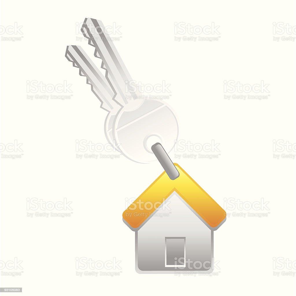 house key royalty-free stock vector art