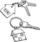 House keychain doodles