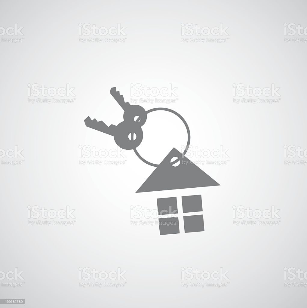 house keychain icon vector art illustration