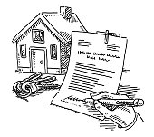 House Keys Signature Contract Drawing
