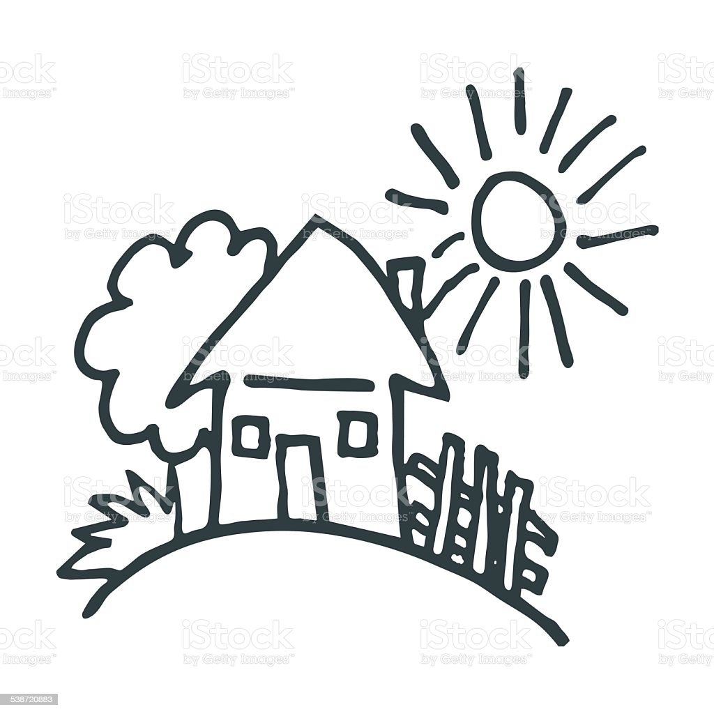 House Landschaft Stock Vektor Art Und Mehr Bilder Von 2015 538720883