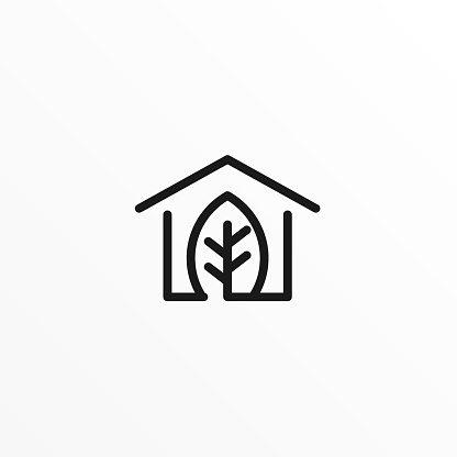 House Leaf Illustration Vector Template
