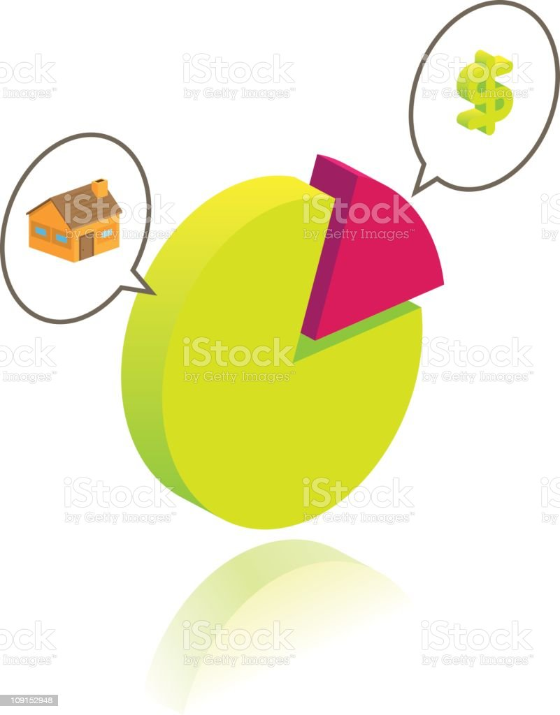 House loan budget royalty-free stock vector art