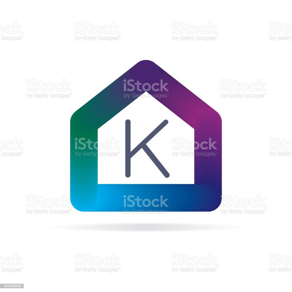 Houselogo Mit Den Buchstaben K Zeichen Logoschablone Stock Vektor ...