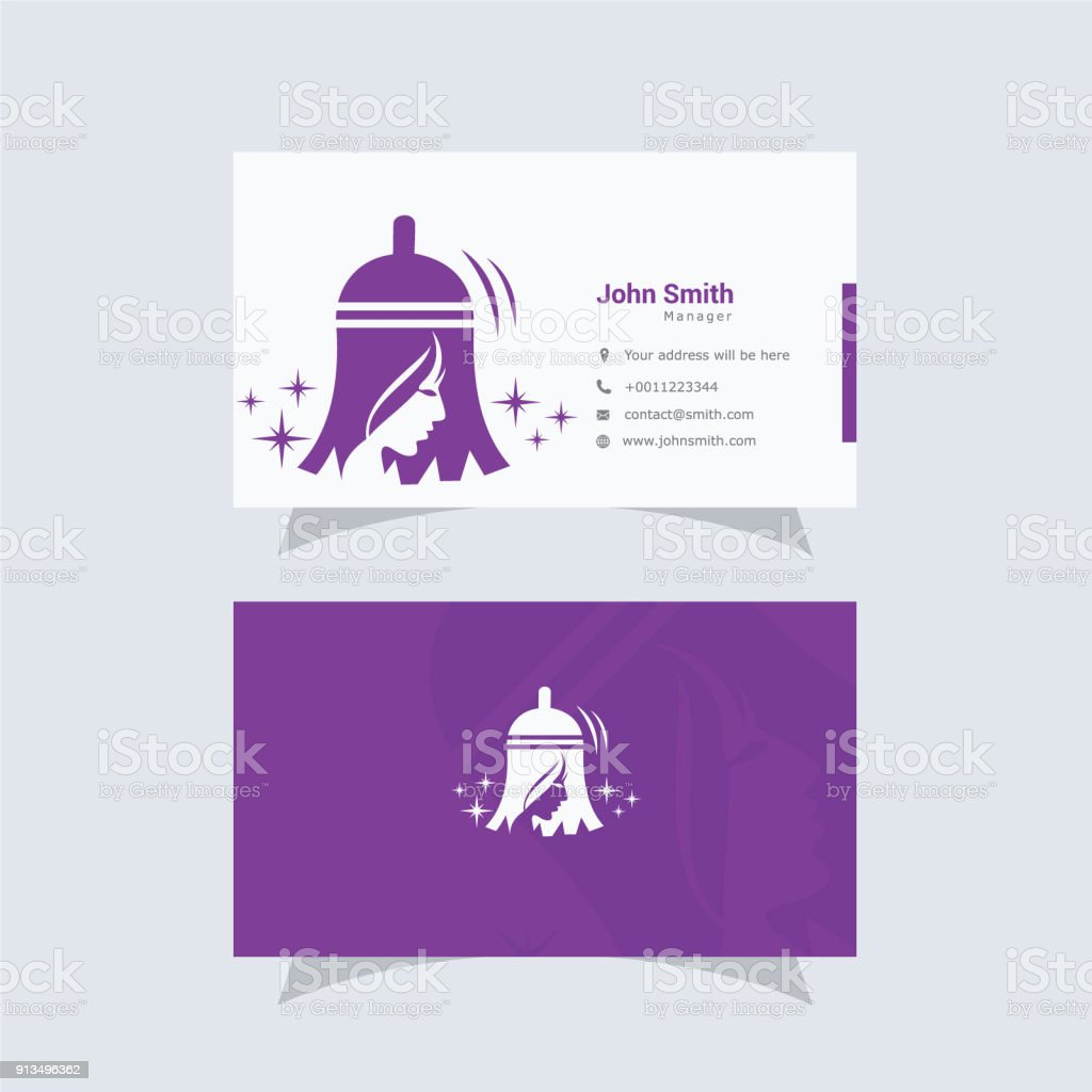 House Maid Symbol And Business Card Design Template Home And Office ...