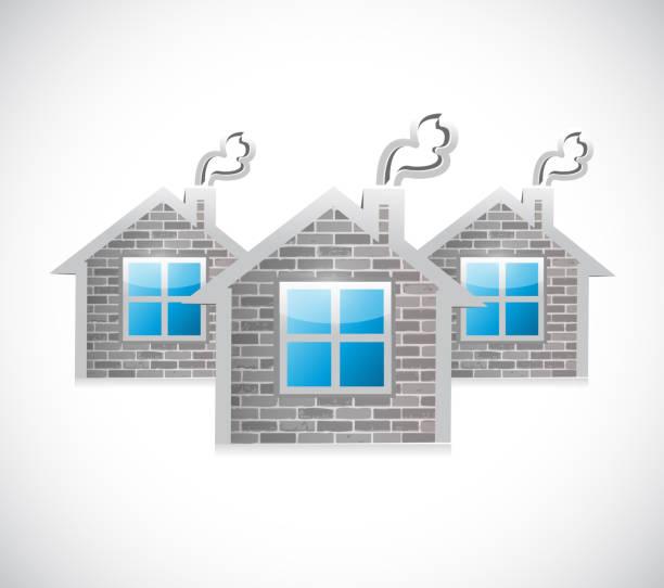 koncepcja rynku nieruchomości. projekt ilustracji - white house stock illustrations
