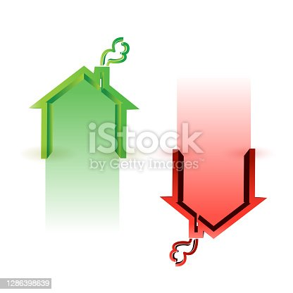 istock House market up and down 1286398639