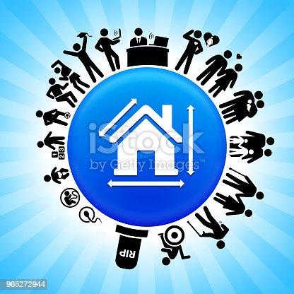 House Measurement Lifecycle Stages Of Life Background - Stockowe grafiki wektorowe i więcej obrazów Adolescencja 965272944