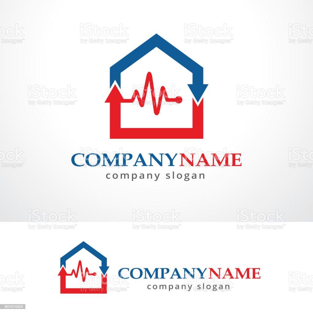 House Medical Symbol Template Design Vector Emblem Design Concept