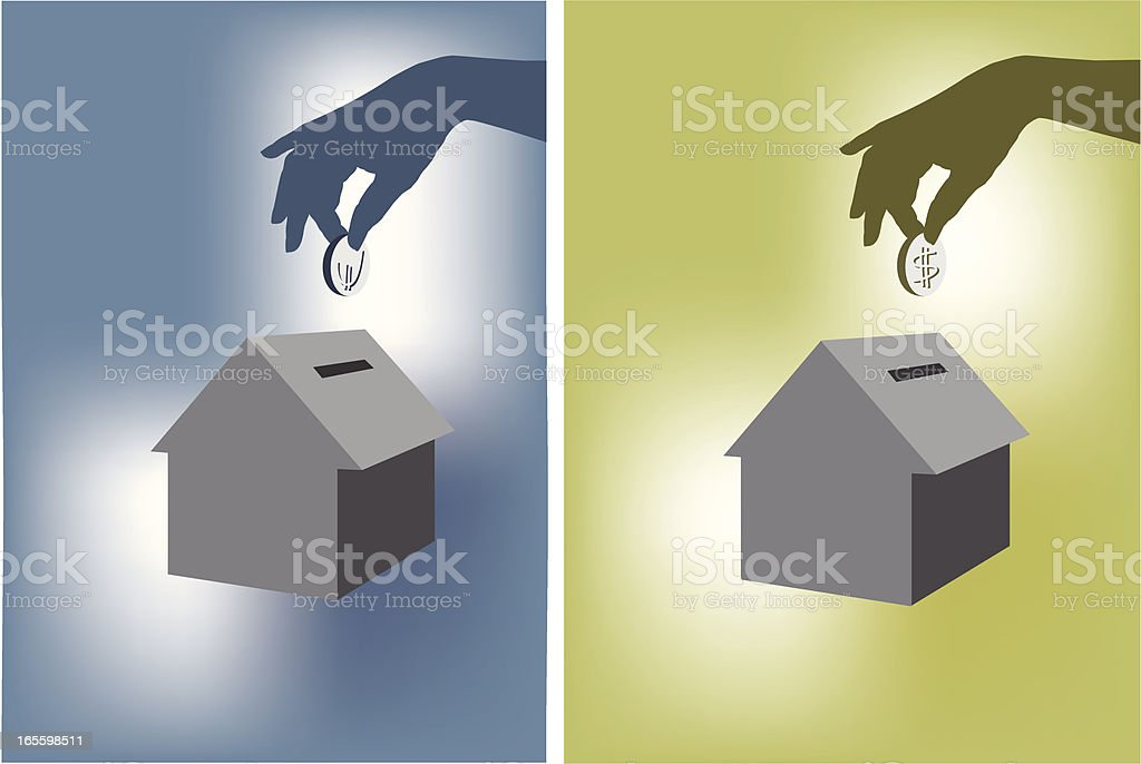 House Money box royalty-free house money box stock vector art & more images of a helping hand