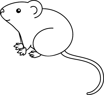 House Mouse Coloring Page Stock Illustration - Download ...