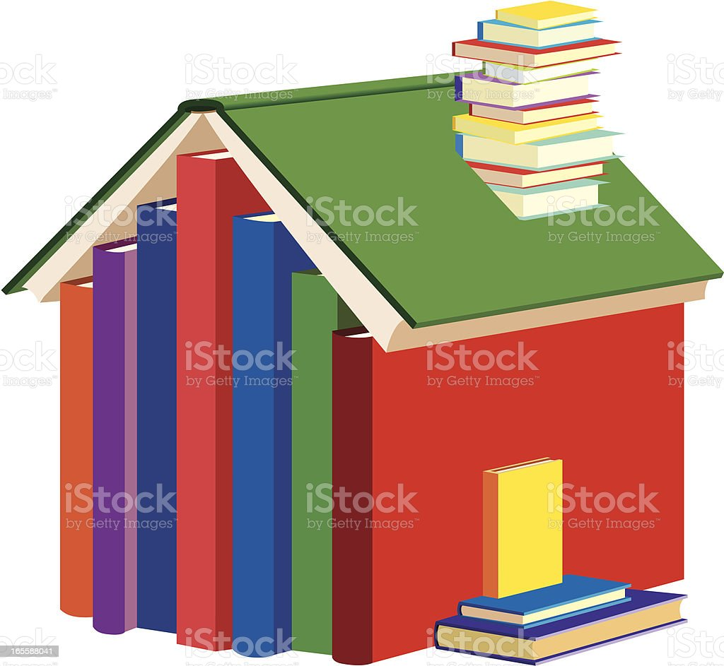 House of Books royalty-free stock vector art