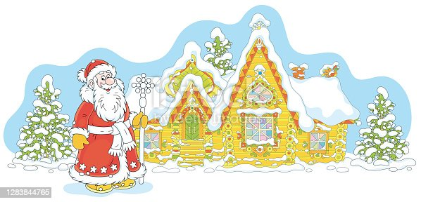 istock House of Santa Claus on Christmas Eve 1283844765