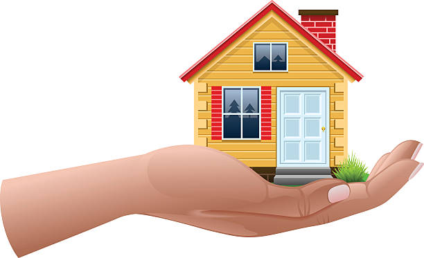 House on hand House on hand, EPS file version 10. dollhouse stock illustrations