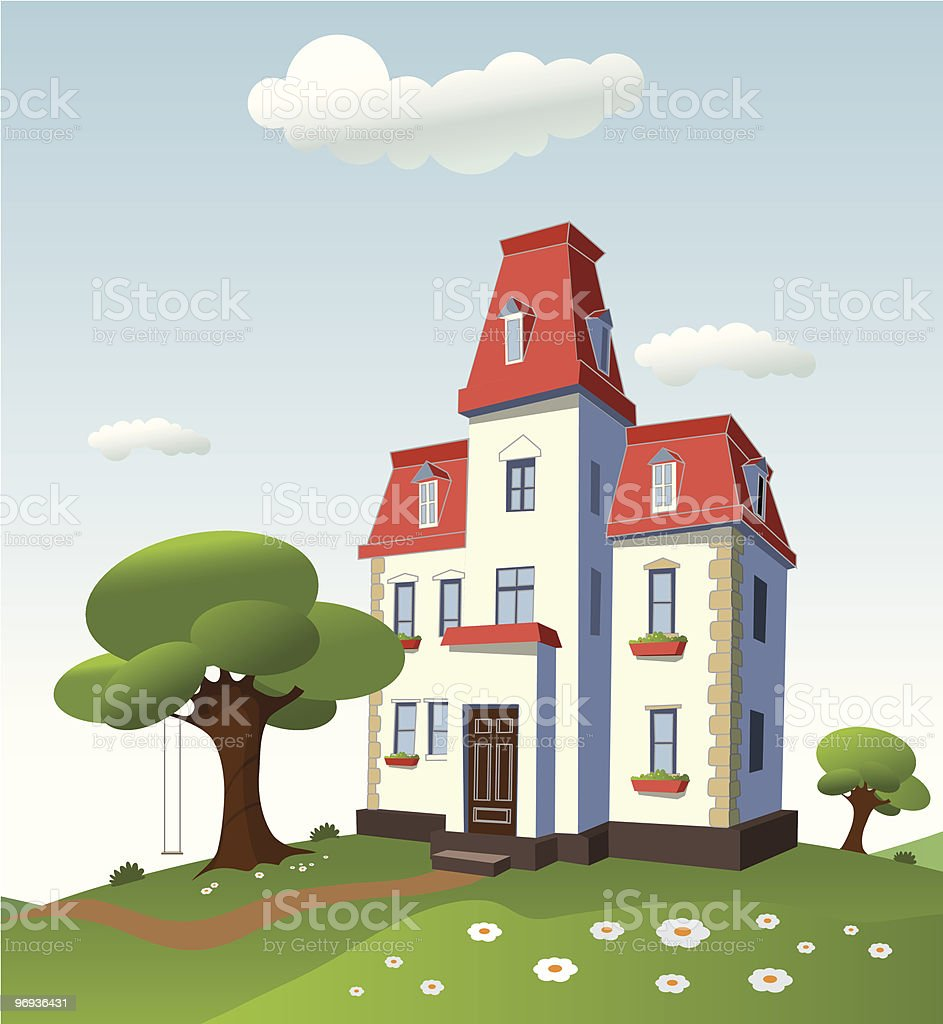 House on nature royalty-free house on nature stock vector art & more images of blue